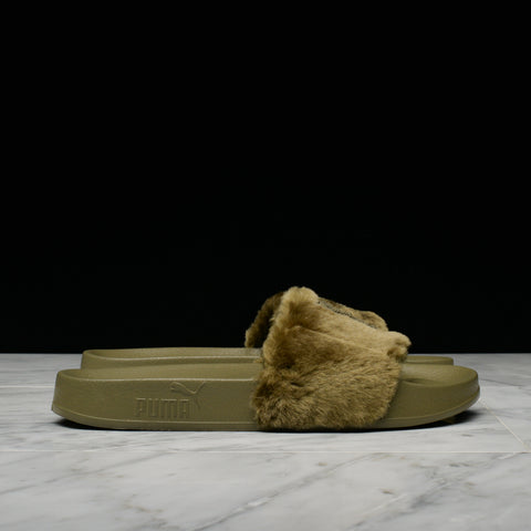 PUMA x FENTY BY RIHANNA LEADCAT FU FUR - BURNT OLIVE