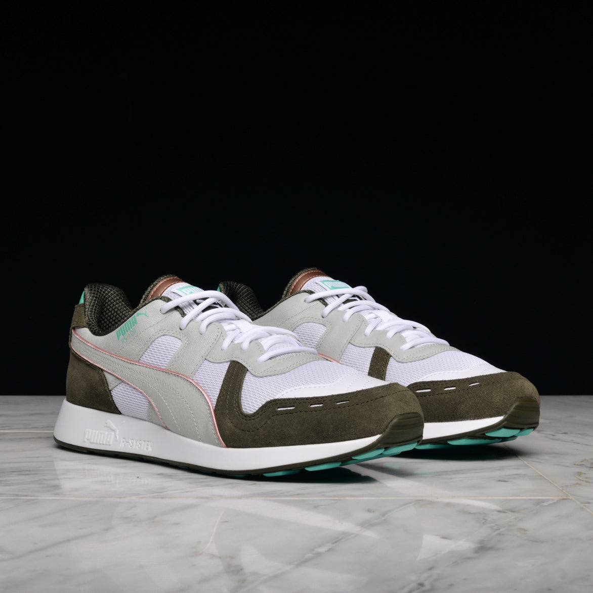"EMORY JONES X PUMA RS-100 ""BET ON YOURSELF"" - WHITE / FOREST NIGHT"