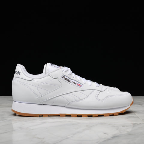 CLASSIC LEATHER - WHITE / GUM