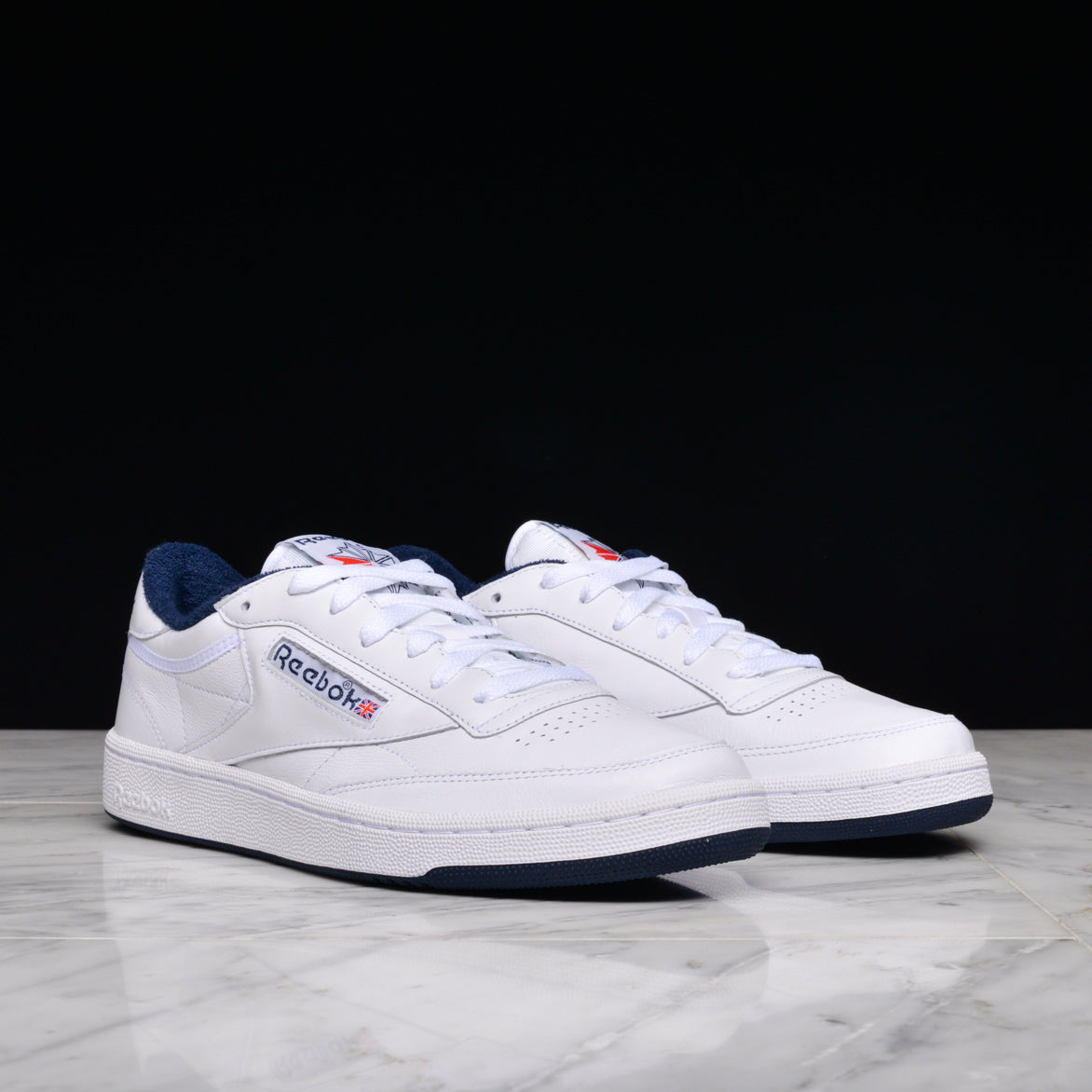 CLUB C 85 ARCHIVE - WHITE / NAVY / RED