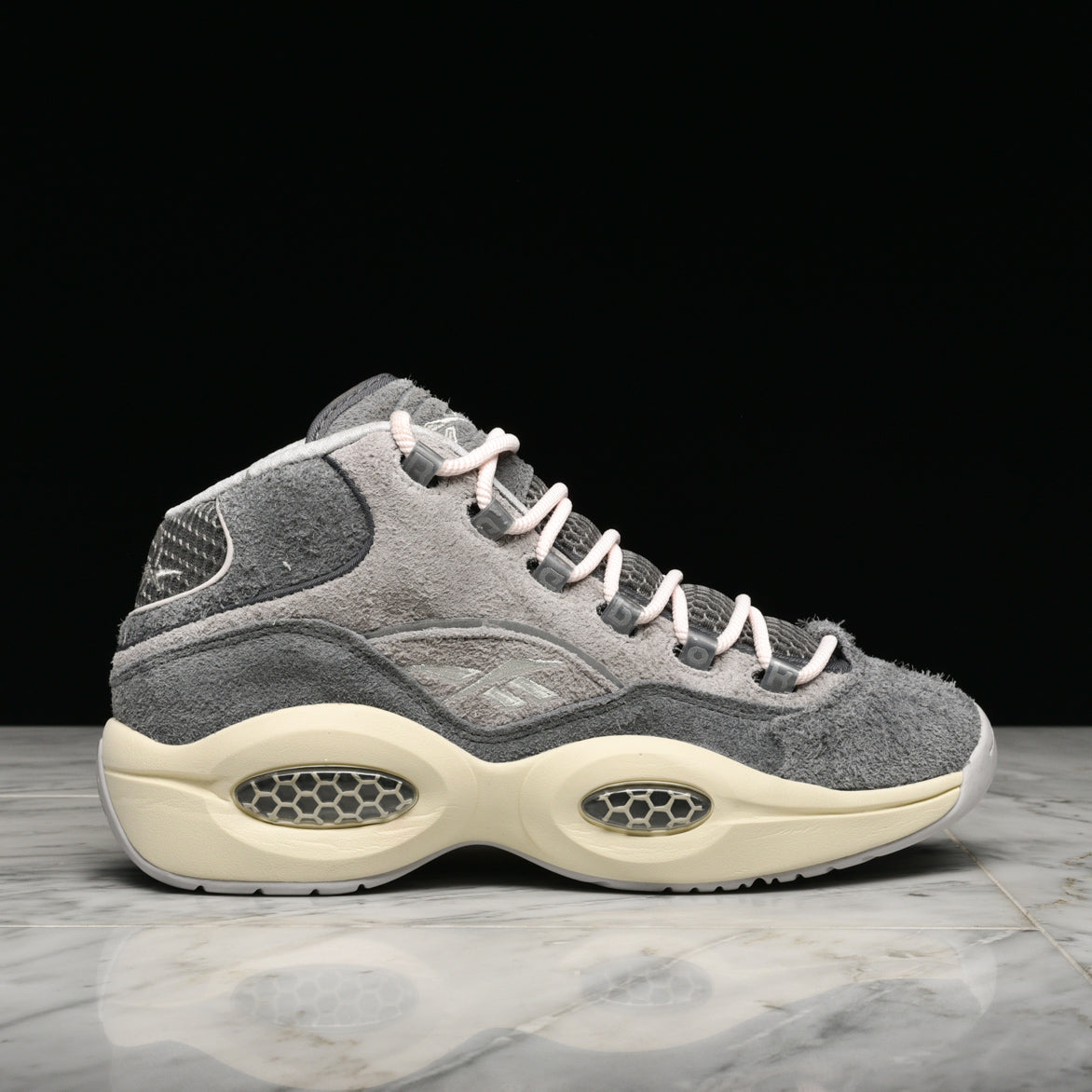 "QUESTION MID ""GREY SUEDE"""