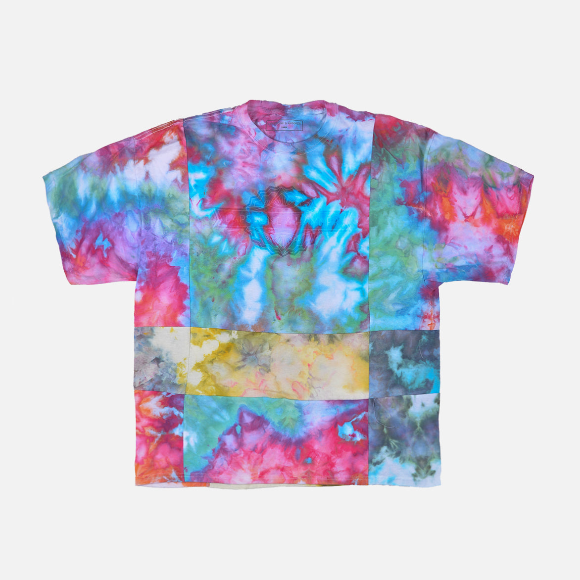 "RECONSTRUCT PATCHWORK TEE ""CORAL"""