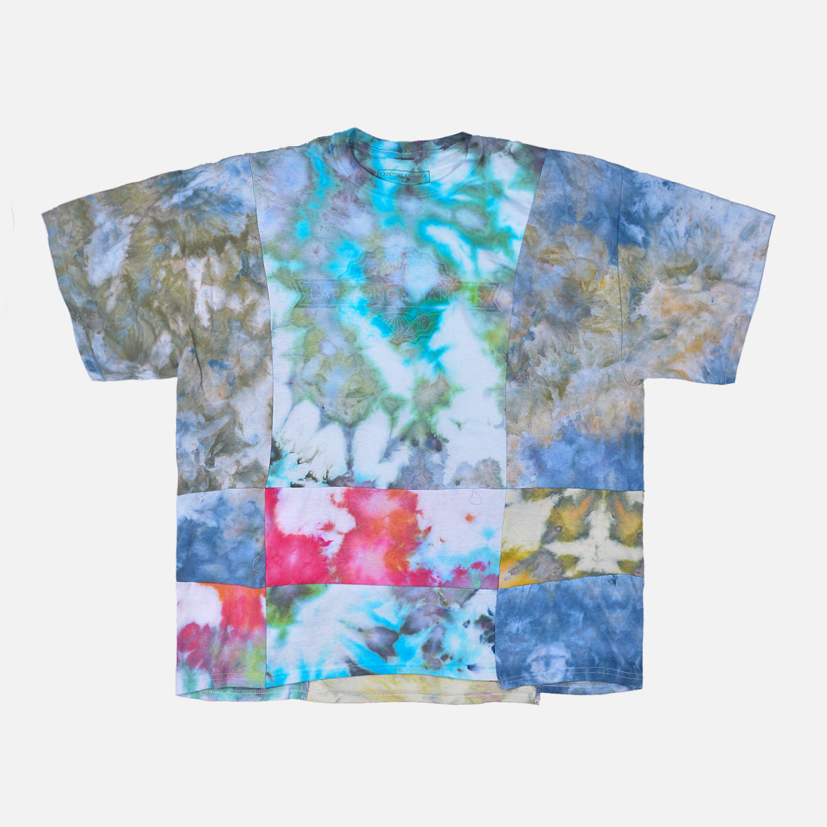 "RECONSTRUCT PATCHWORK TEE ""EARTH"""