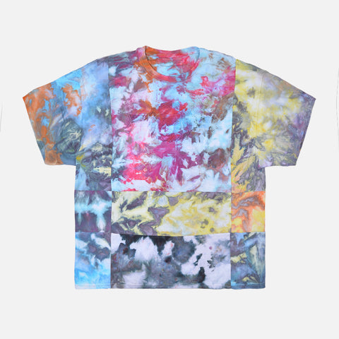 "RECONSTRUCT PATCHWORK TEE ""GALAXY"""
