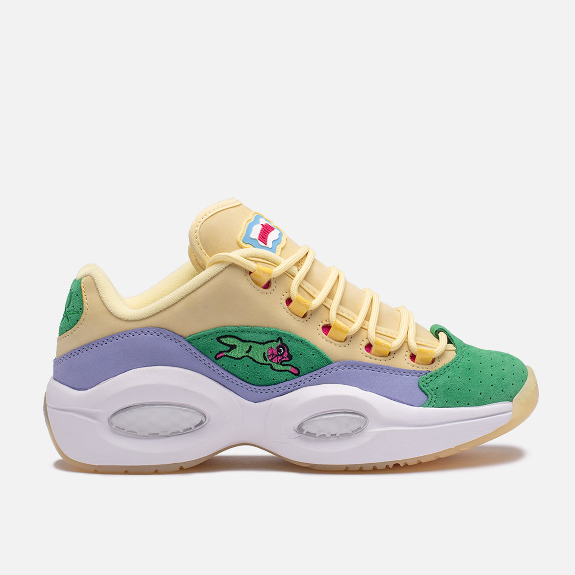 "BBC ICECREAM X REEBOK QUESTION LOW ""RUNNING DOG"" - GREEN"