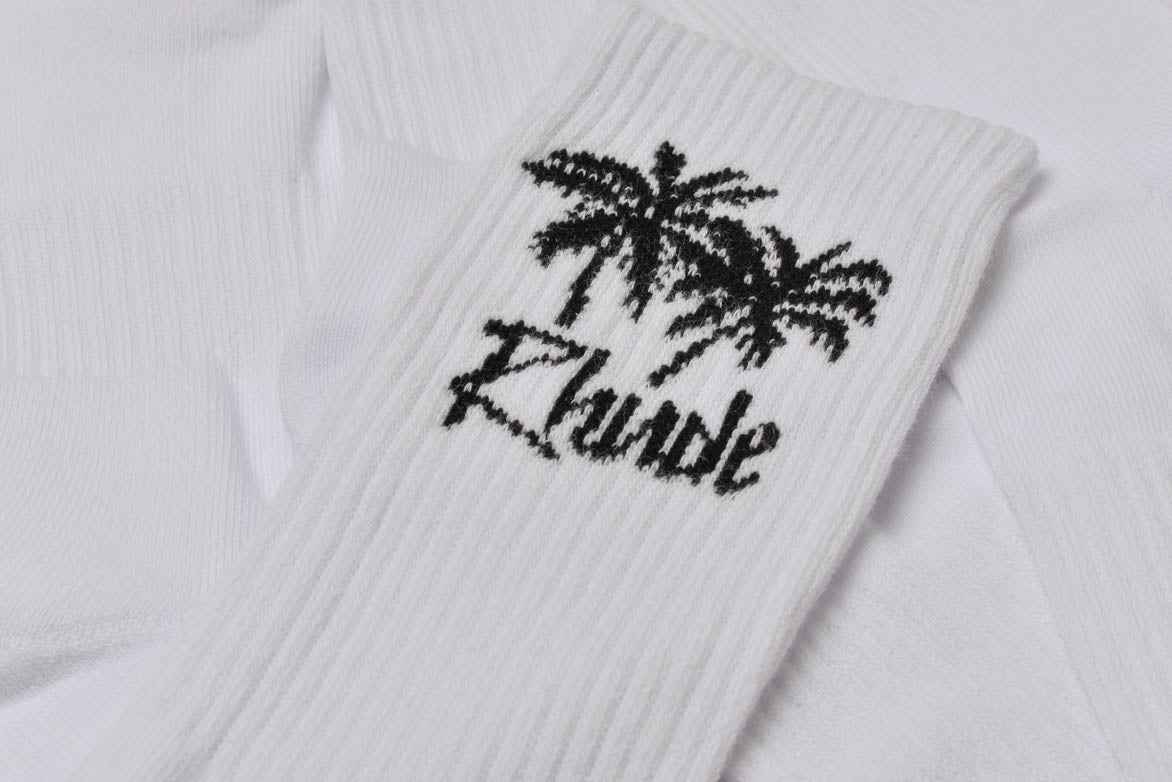 PALM TREE SOCKS - WHITE