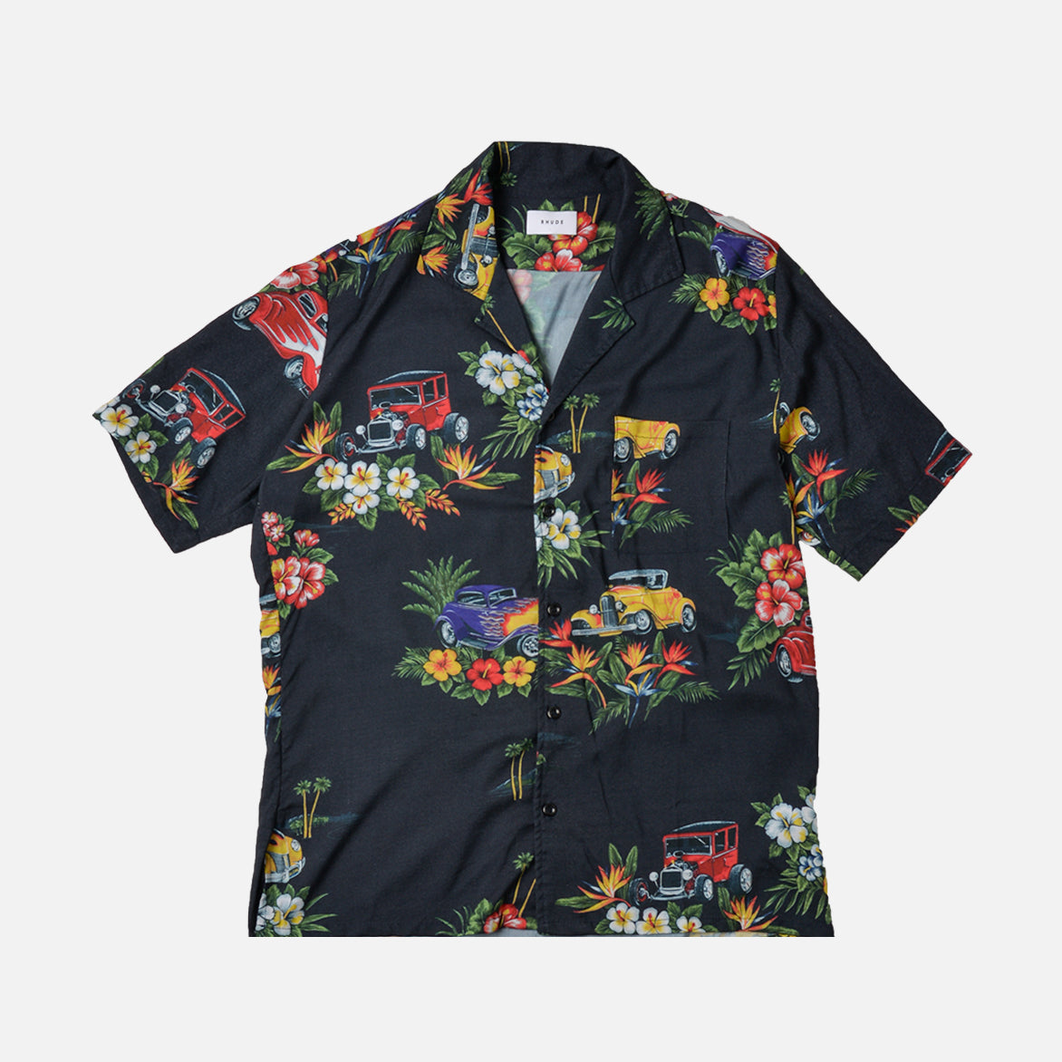 HAWAIIAN SHIRT GIRL - NAVY