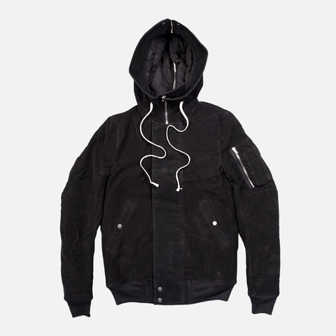 DRKSHDW HOODED BOMBER - BLACK