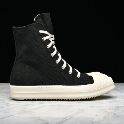 DRKSHDW CANVAS HI-TOP - BLACK