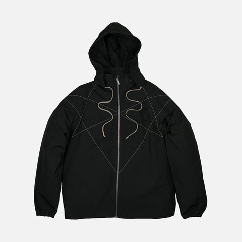 DRKSHDW HOODED WINDBREAKER - BLACK