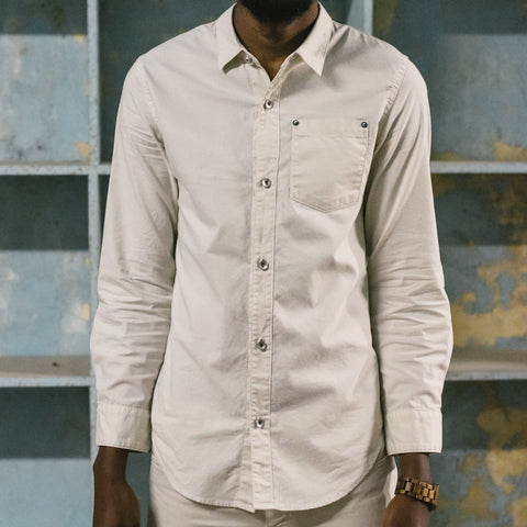 ROBERT GELLER DENIM SHIRT - OFF WHITE