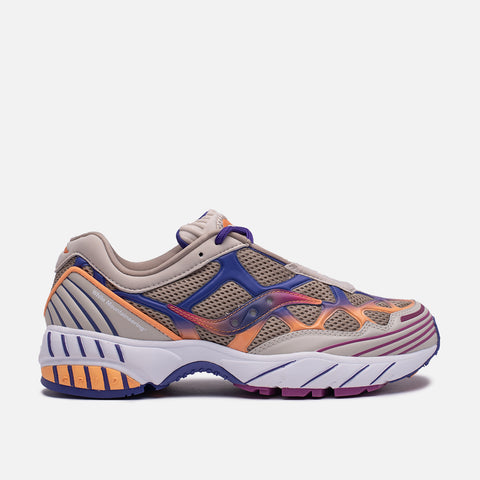 WHITE MOUNTAINEERING X SAUCONY GRID WEB - TAN / ORANGE / PURPLE