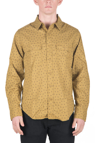 MEN`S COTTON SHIRT - OLIVE