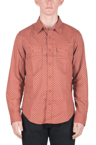 MEN`S COTTON SHIRT - RUST