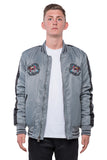NYLON SOUVENIR JACKET - GREY