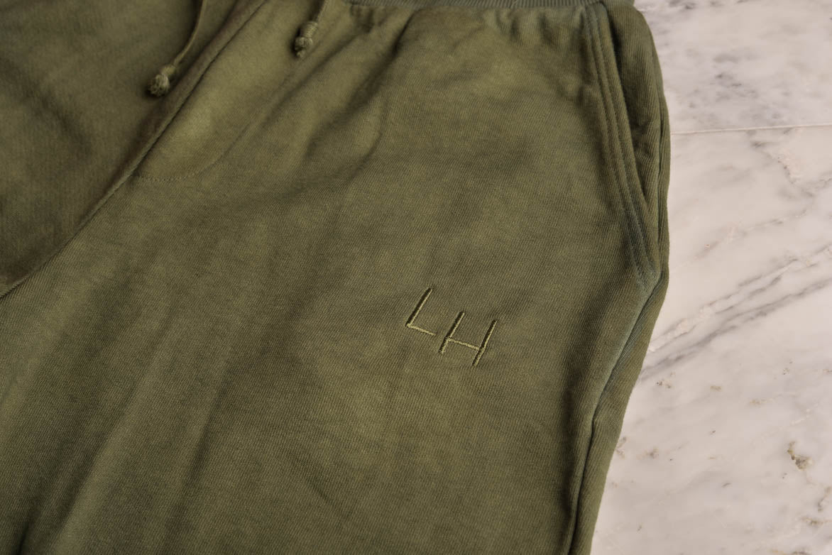 FRENCH TERRY PANTS - OLIVE