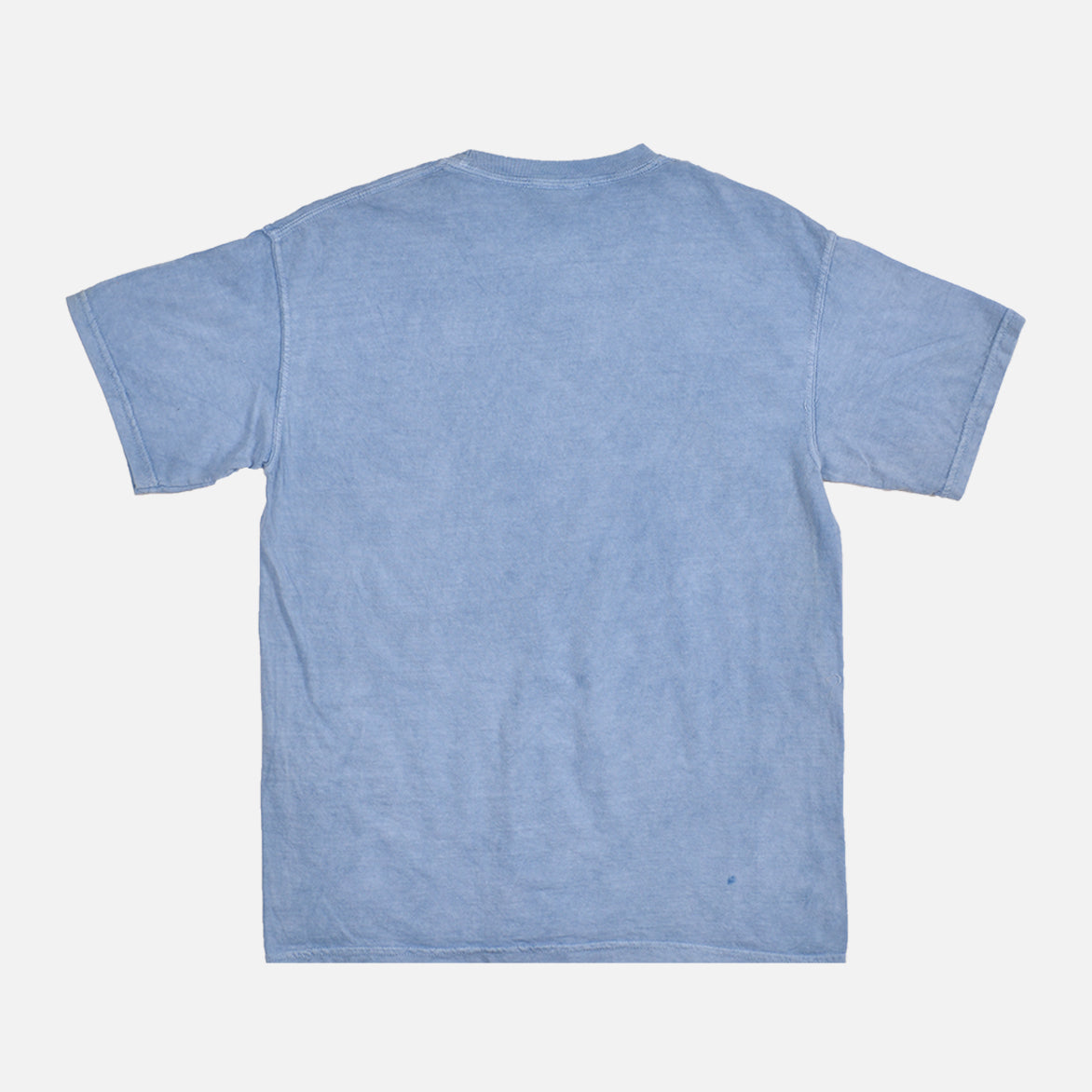 WASHED COTTON TEE - INDIGO