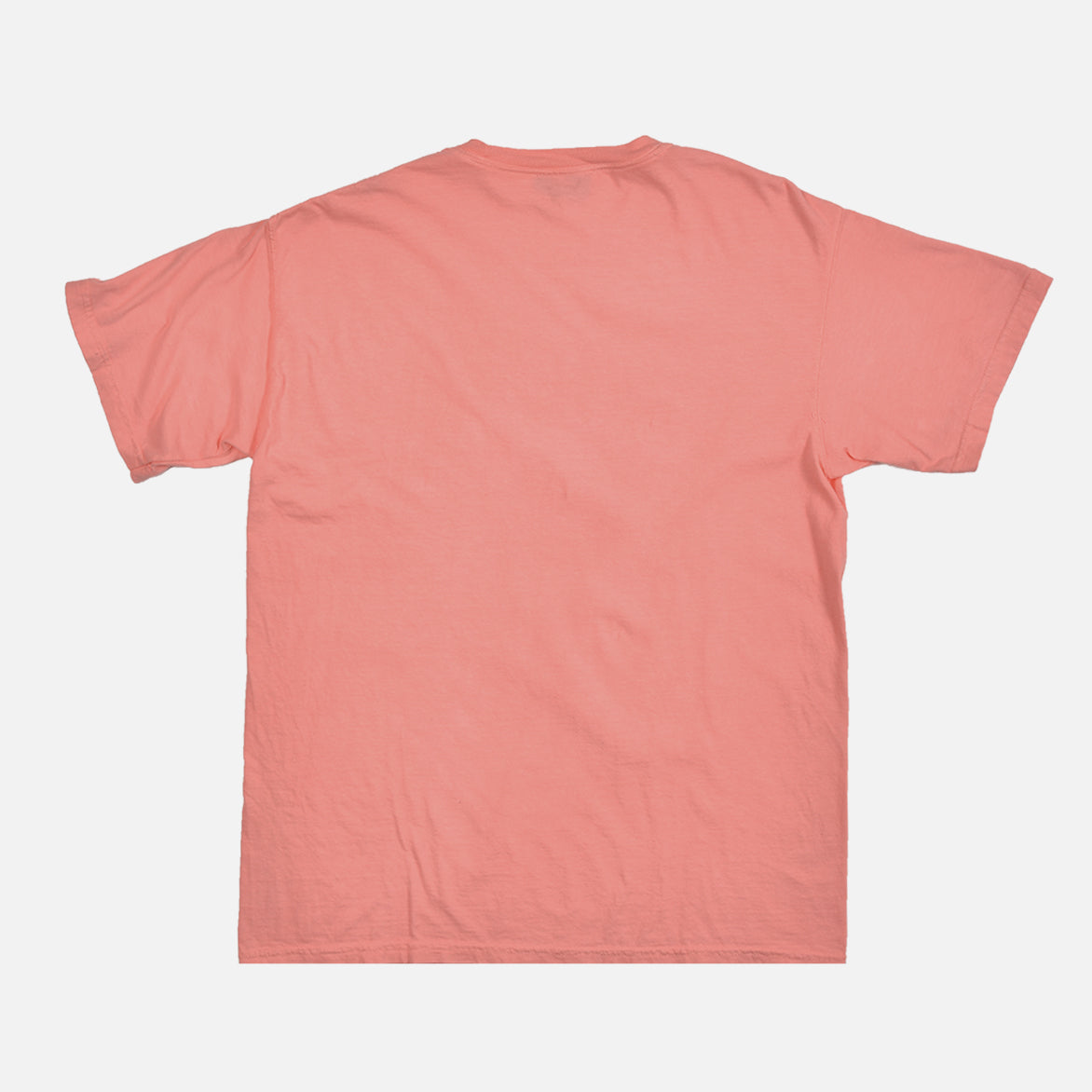 WASHED COTTON TEE - CORAL