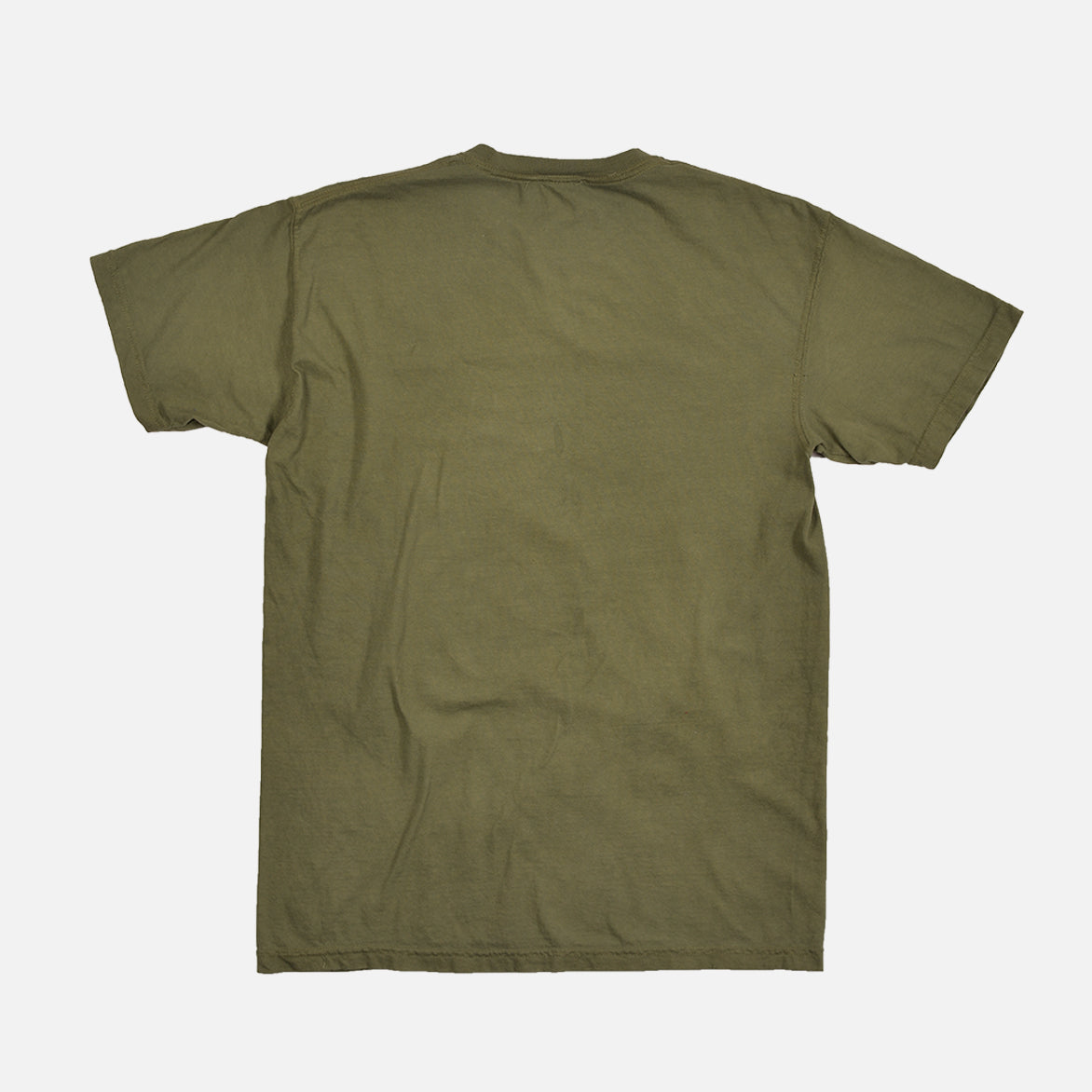 WASHED COTTON TEE - OLIVE