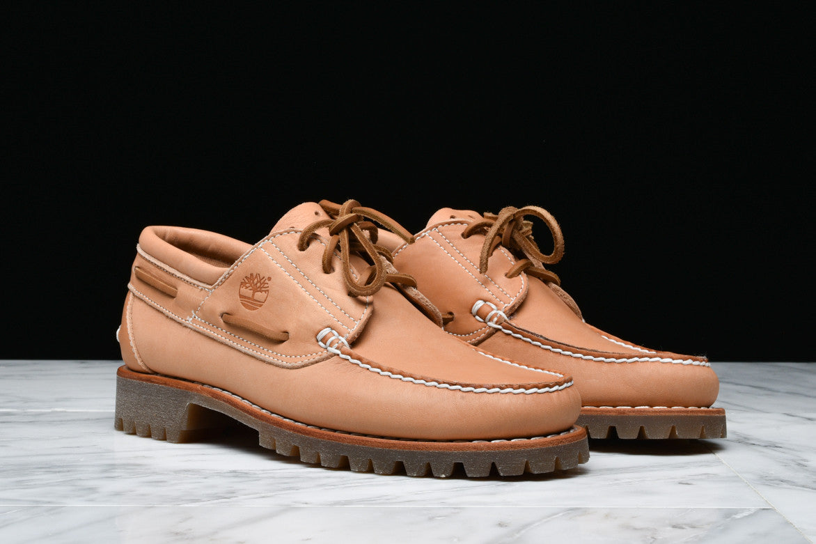 TIMBERLAND x HORWEEN LIMITED RELEASE 3 EYE BOAT SHOE - VEG TAN