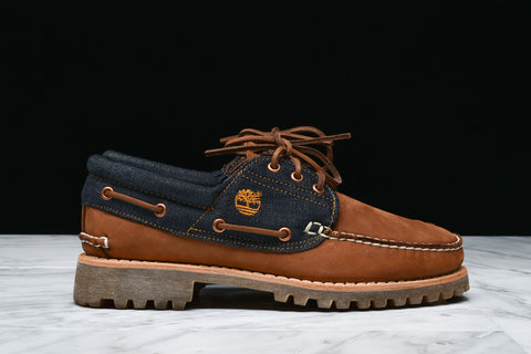 TIMBERLAND x WHITE OAK DENIM LIMITED RELEASE 3-EYE BOAT SHOE - INDIGO