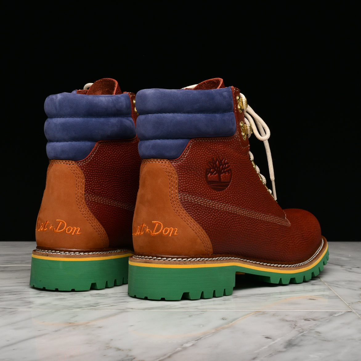 "JUST DON X TIMBERLAND 6"" PREM VIBRAM ""BURGUNDY"""
