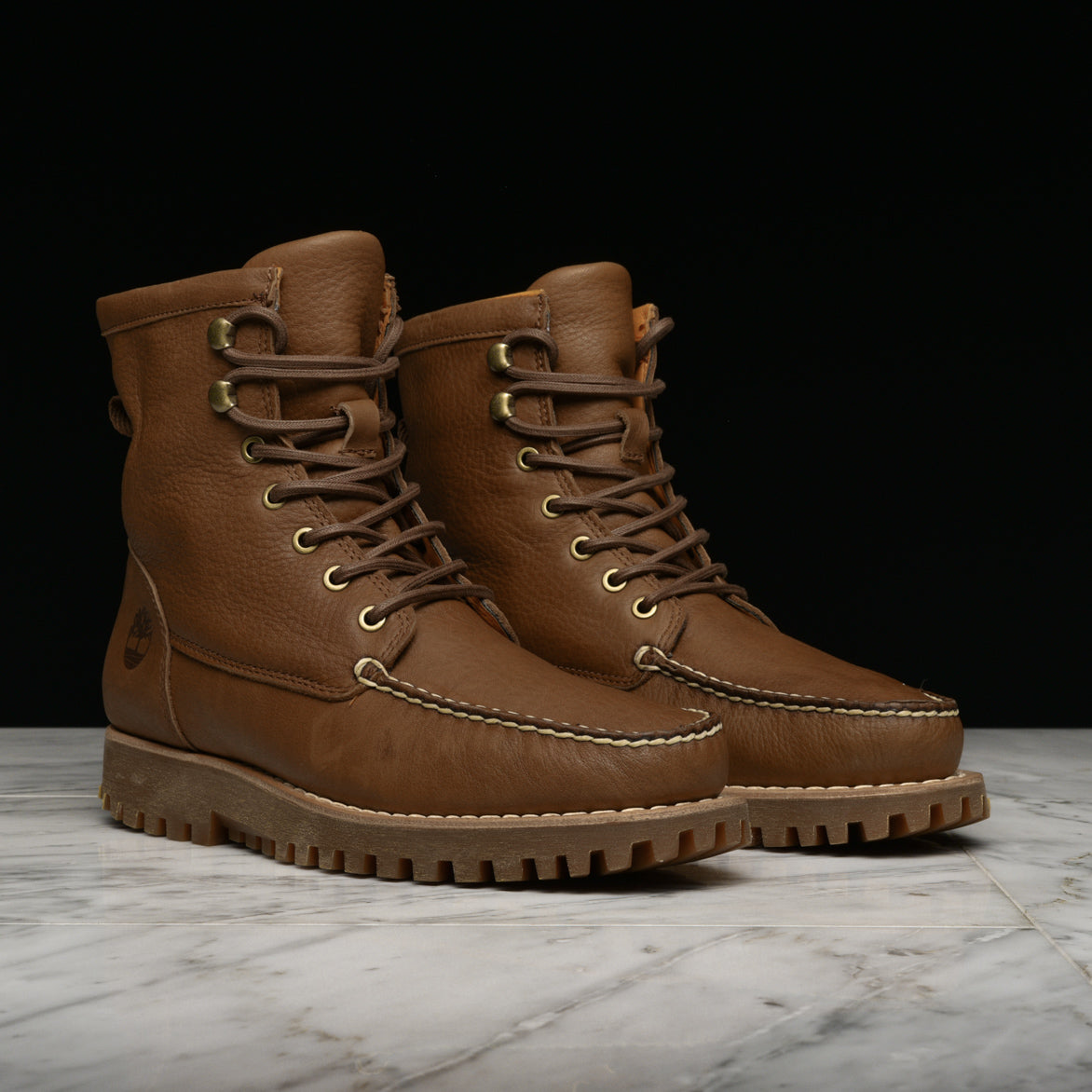 "JACKSON""S LANDING MOC TOE BOOT - RUST FULL-GRAIN"