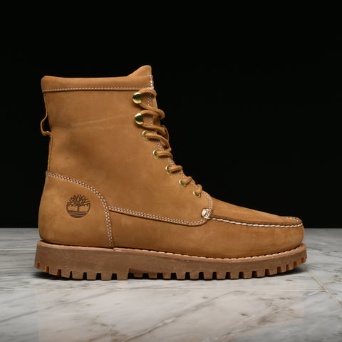 JACKSON'S LANDING MOC TOE BOOT - WHEAT NUBUCK