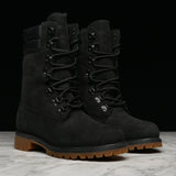 "SPECIAL RELEASE 8"" SUPER BOOT W/FUR - BLACK"