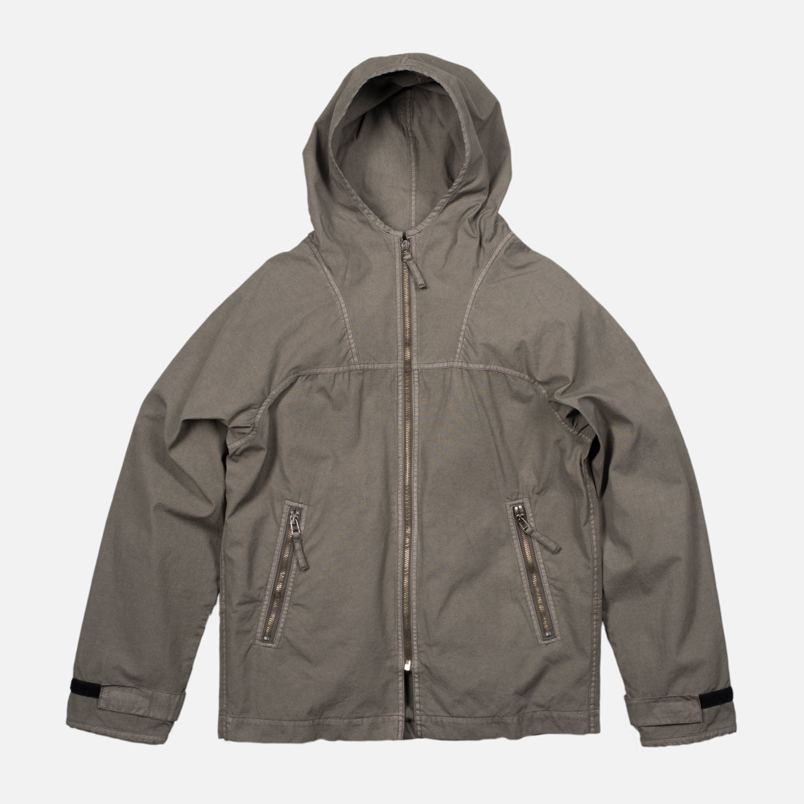 HOODED BLOUSON - SLATE GREY