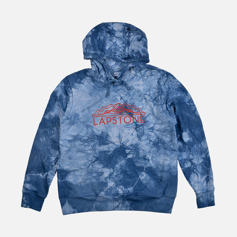 TWO RIVERS FRENCH TERRY HOODIE - INDIGO MARBLE DYE