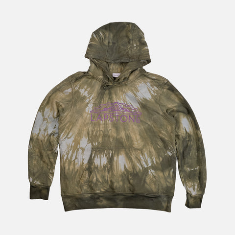 TWO RIVERS FRENCH TERRY HOODIE - OLIVE MARBLE DYE