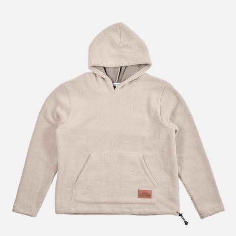 TWO RIVERS SHERPA HOODIE - OATMEAL