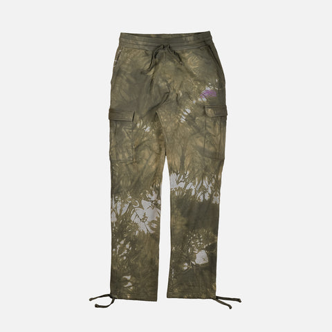 TWO RIVERS FRENCH TERRY CARGO PANT - OLIVE MARBLE DYE