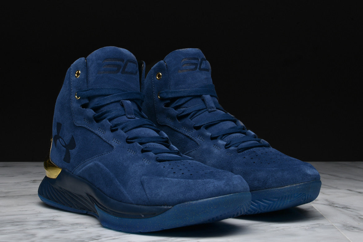 CURRY 1 LUX MID SUEDE - BLUE