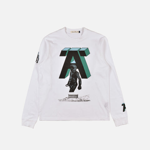 A SWEATSHIRT - WHITE