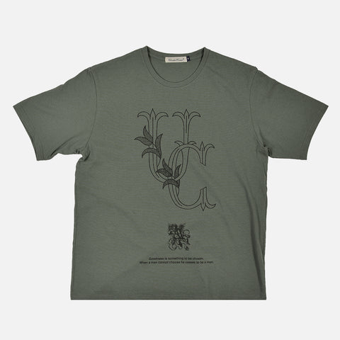 GOODNESS TEE - MOSS GREEN
