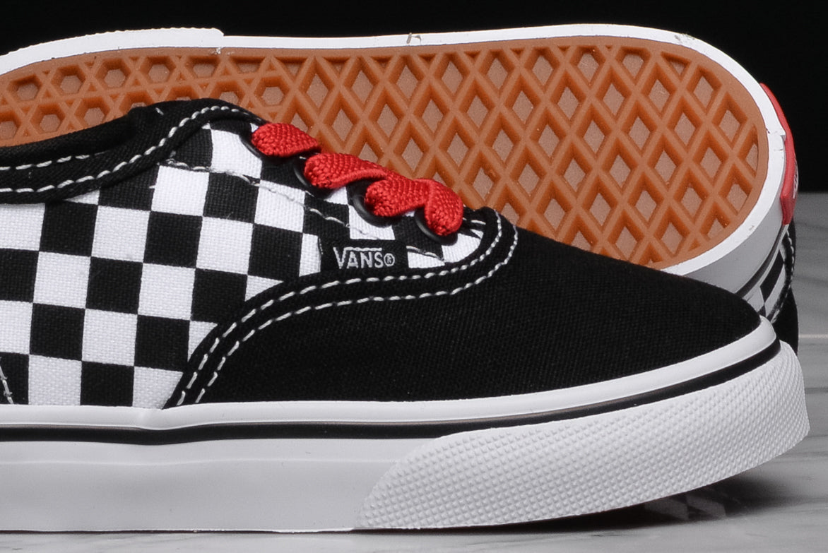 AUTHENTIC ELASTIC CHECKERBOARD (TD) - BLACK / RED / WHITE