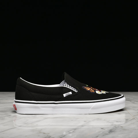 "CLASSIC SLIP-ON ""CHECKER FLORAL"" - BLACK"