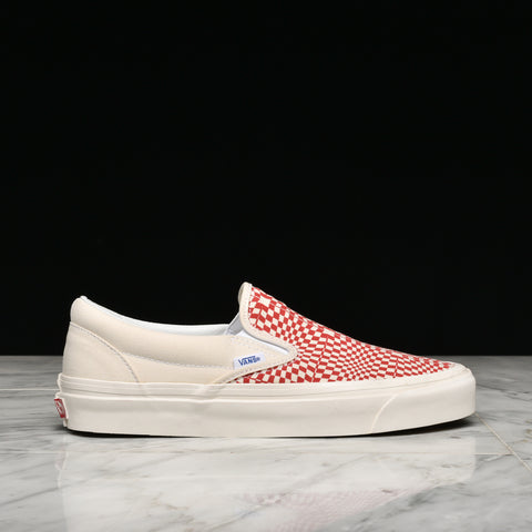 "ANAHEIM FACTORY CLASSIC SLIP-ON 98 DX ""WARP CHECK"" - OG RED"