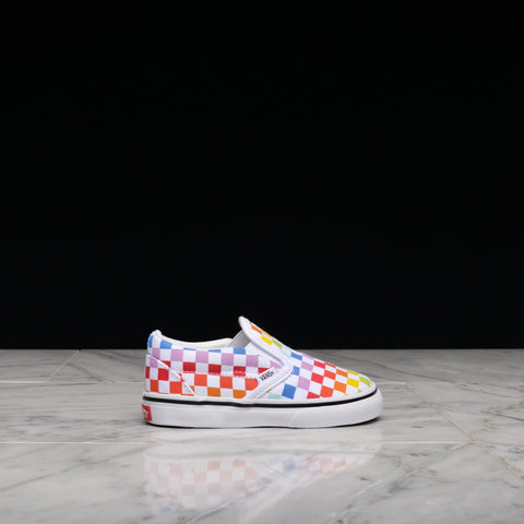 CLASSIC SLIP-ON CHECKERBOARD (TD) - RAINBOW / WHITE