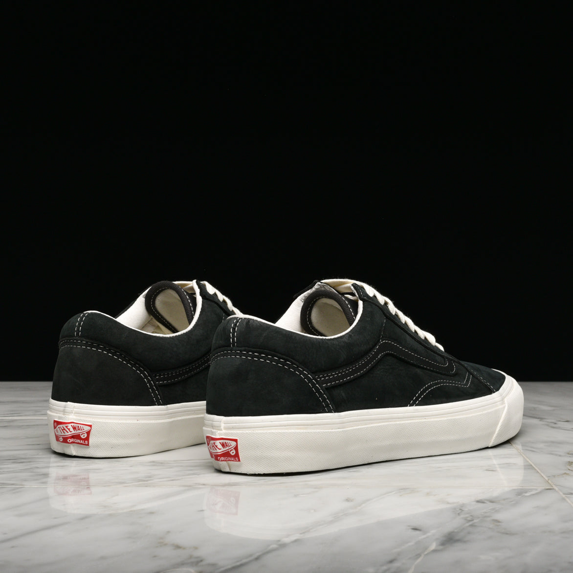 VANS VAULT OG OLD SKOOL LX (NUBUCK / LEATHER) - RAVEN / BLACK