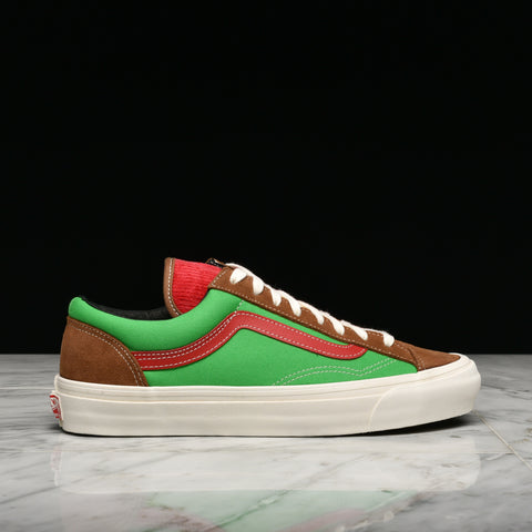 VANS VAULT OG STYLE 36 LX (SUEDE / CORDUROY / CANVAS) - RUBBER / CIGAR / CLASSIC GREEN