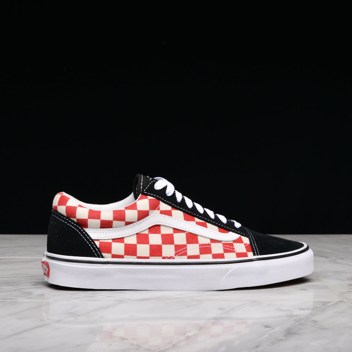 OLD SKOOL - BLACK / RED CHECKERBOARD