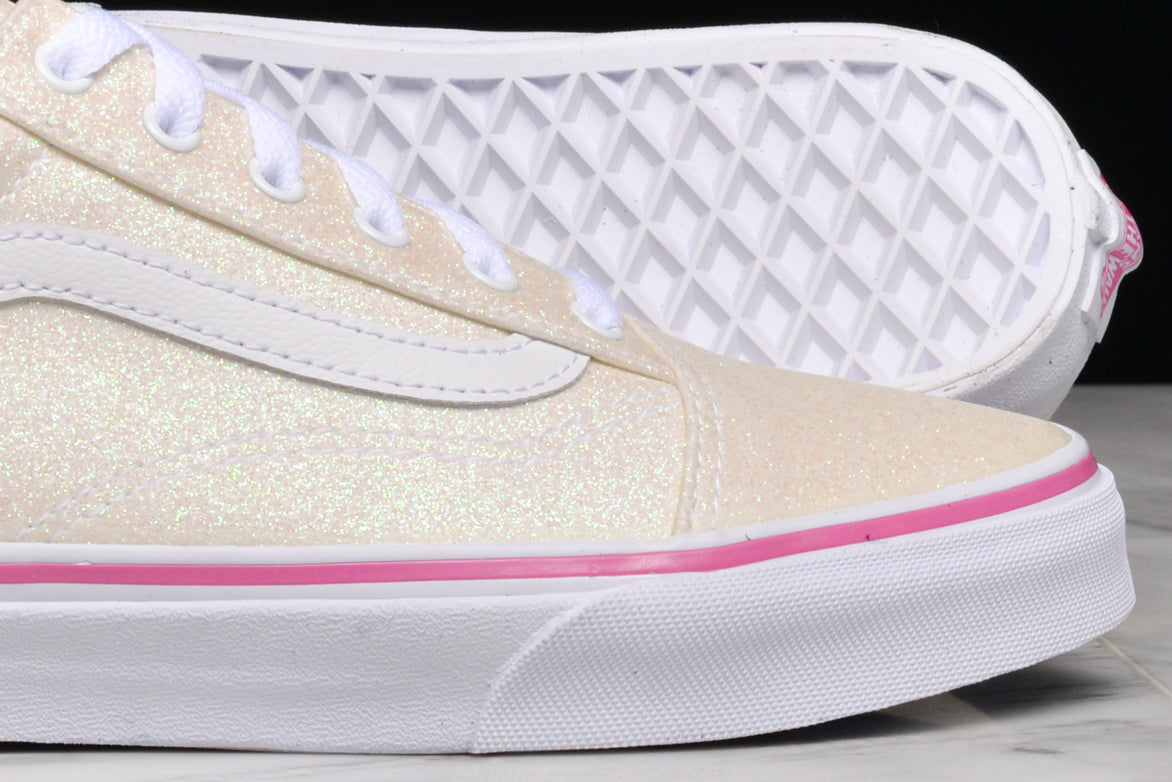 OLD SKOOL (GS) - GLITTER RAINBOW / WHITE