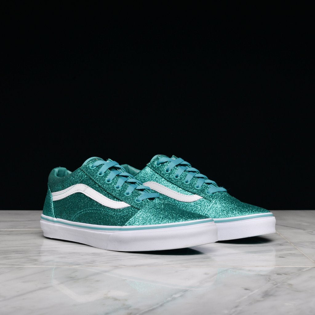 OLD SKOOL (GS) - GLITTER TURQUOISE