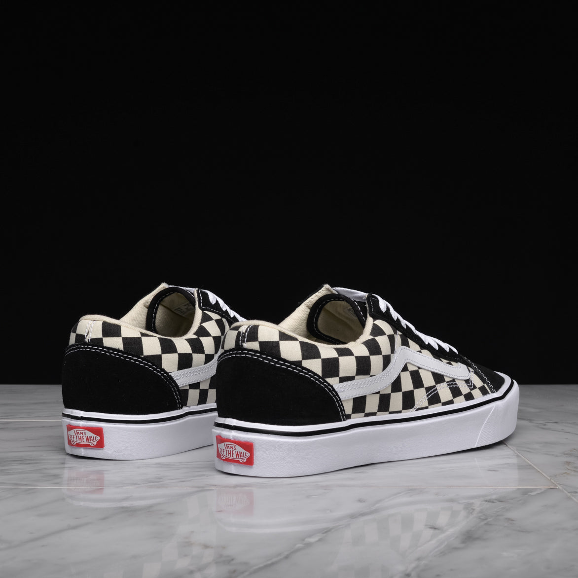 OLD SKOOL LITE (CHECKERBOARD) - BLACK / WHITE