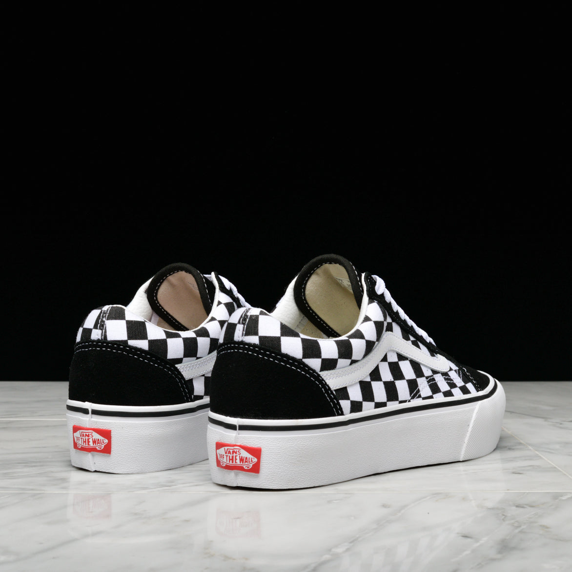 OLD SKOOL PLATFORM CHECKERBOARD - BLACK / WHITE