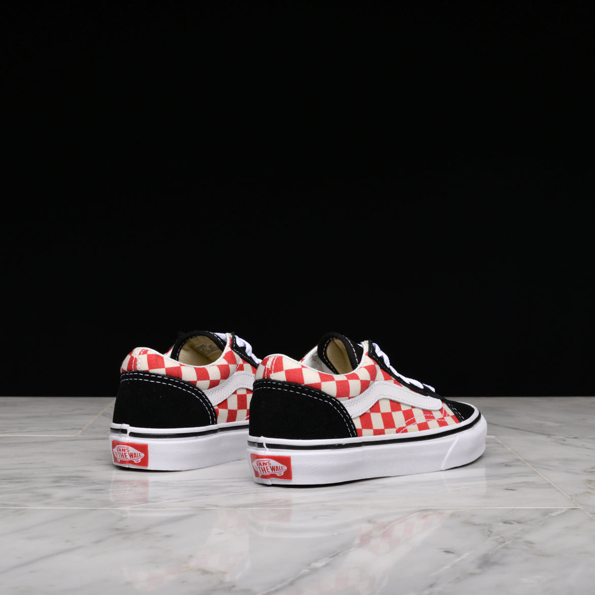 OLD SKOOL (KIDS) - BLACK / RED CHECKERBOARD