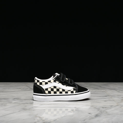 "OLD SKOOL (TD) ""PRIMARY CHECK"" - BLACK / WHITE"
